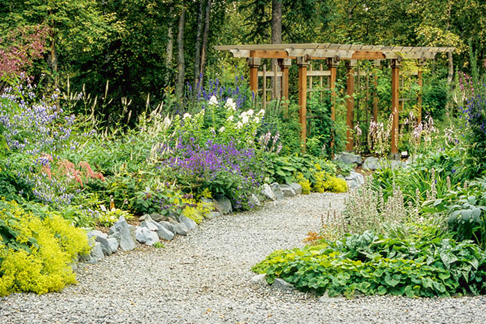 Alaska Botanical Garden Anchorage, Lower Perennial Garden