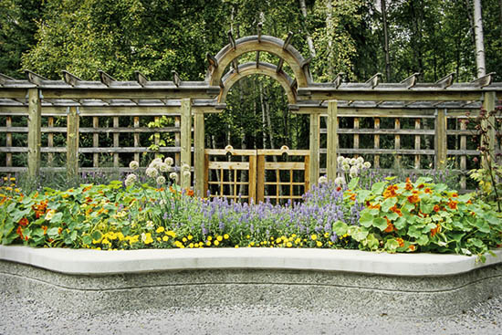 The Herb Garden in Alaska Botanical Garden, Anchorage