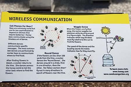 Sign explaining Bee Communication