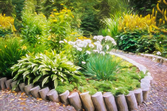 Upper Perennial Garden Recycled Retaining Wall