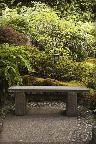 Butchart Gardens Japanese Gardens Stone Bench