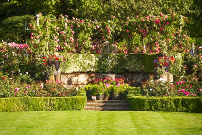 The Formal Rose Garden, Butchart Gardens Vancouver Island