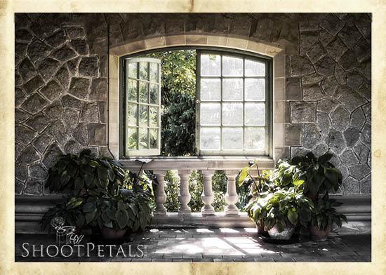 Hatley Castle Italian Garden Balcony