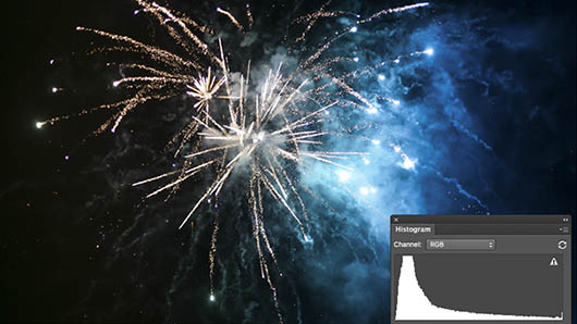 Tones In a Fireworks Image