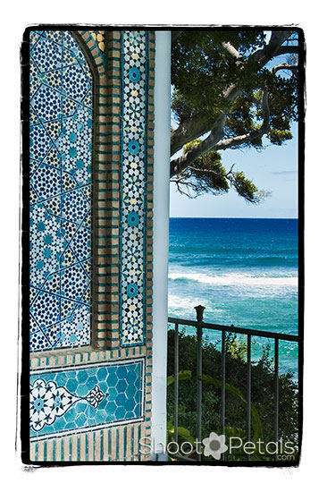 Islamic Mosaic on Lanai at Shangri La