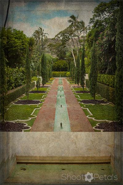 Shangri La Water Gardens Antique Photo Editing