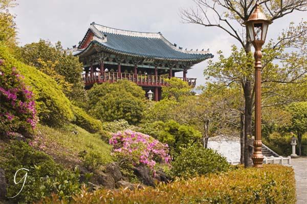 Pavilion and Gardens at Cheongyeon Waterfalls