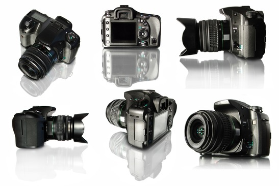 Different views of a camera.