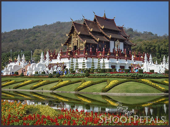 Royal Flora Ratchaphruek, Royal Pavilion and reflections