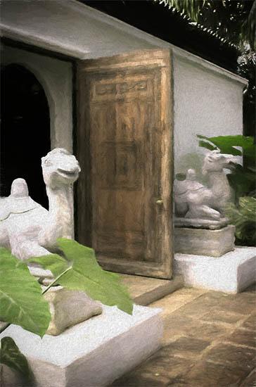 Shangri La Front Door Camels
