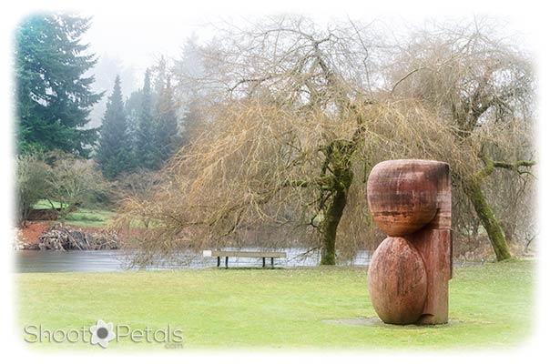 Sculpture on Heron Lake, VanDusen Botanical Garden