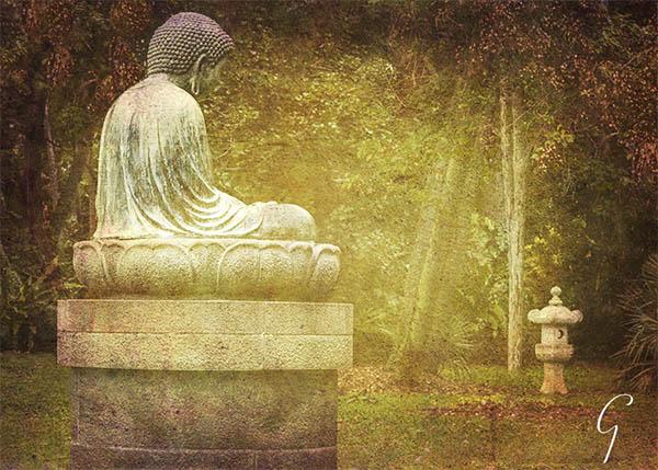 Buddha In Foster Botanical Garden, Honolulu, Hawaii