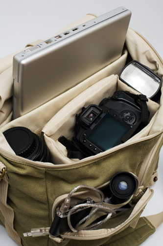 Camera backpack canvas.