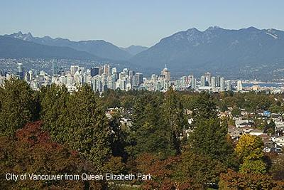 View of Vancouver from QE park